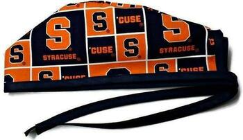 Men's Syracuse CUSE Unlined Surgical Scrub Hat, Optional Sweatband, Handmade
