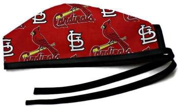 Men's St. Louis Cardinals Allover Unlined Surgical Scrub Hat, Optional Sweatband, Handmade