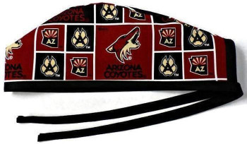 Men's Arizona Coyotes Unlined Surgical Scrub Hat, with Optional Sweatband,  Handmade