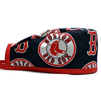 Men's Boston Red Sox Navy Unlined Surgical Scrub Hat, Optional Sweatband, Handmade