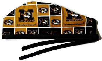 Men's Missouri Mizzou Tigers Unlined Surgical Scrub Hat, Optional Sweatband, Handmade