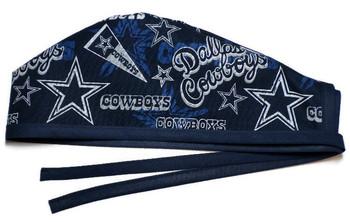Men's Dallas Cowboys Retro Unlined Surgical Scrub Hat, Optional Sweatband, Handmade