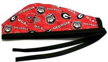 Men's Georgia Bulldogs Two Tone  Unlined Surgical Scrub Hat, Optional Sweatband, Handmade