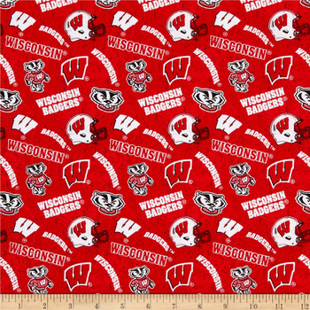 Women's Wisconsin Badgers Two Tone Ponytail Surgical Scrub Hat, Plain or Fold-Up Brim Adjustable, Handmade