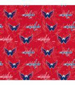 Men's Washington Capitals Two Tone Surgical Scrub Hat, Semi-Lined Fold-Up Cuffed (shown) or No Cuff, Handmade