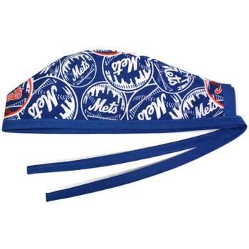 Men's New York Mets Mascot Unlined Surgical Scrub Hat, Optional Sweatband, Handmade