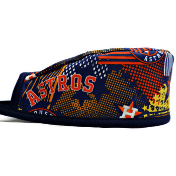 Men's Houston Astros Abstract Unlined Surgical Scrub Hat, Optional Sweatband, Handmade