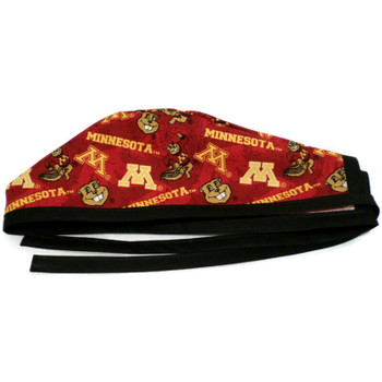 Men's Minnesota Gophers Two Tone Unlined Surgical Scrub Hat, Optional Sweatband, Handmade