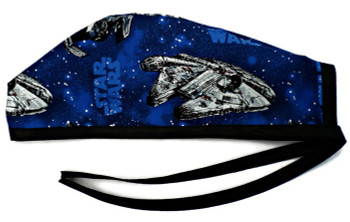 Men's Star Wars Ships  Unlined Surgical Scrub Hat, Optional Sweatband, Handmade