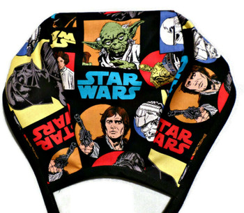 Men's Star Wars Characters  Unlined Surgical Scrub Hat, Optional Sweatband, Handmade