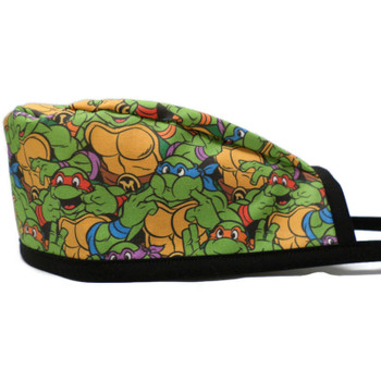 Men's Teenage Mutant Ninja Turtles Smiles Unlined Surgical Scrub Hat,  Optional Sweatband, Handmade