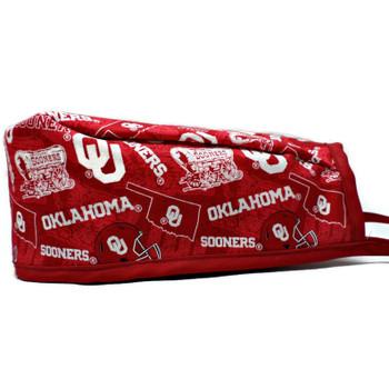 Men's Oklahoma Sooners Two Tone Unlined Surgical Scrub Hat, Optional Sweatband, Handmade