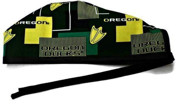 Men's Unlined Surgical Scrub Hat Cap handmade with Officially Licensed Oregon Ducks New Block fabric