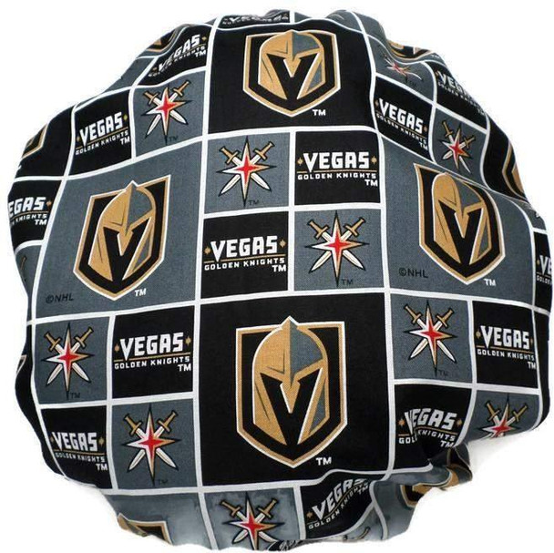 Women's Adjustable Bouffant Surgical Scrub Hat Handmade with  Vegas Golden Knights fabric w/ elastic and cord-lock