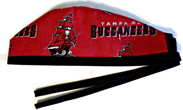 Men's Tampa Bay Buccaneers Unlined Surgical Scrub Hat, Optional Sweatband, Handmade
