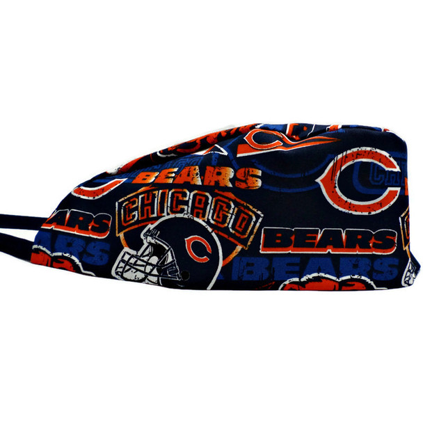 Men's Chicago Bears Vintage Surgical Scrub Hat, Semi-Lined No Cuff, Handmade