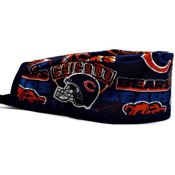 Men's Chicago Bears Vintage Unlined Surgical Scrub Hat, Optional Sweatband, Handmade