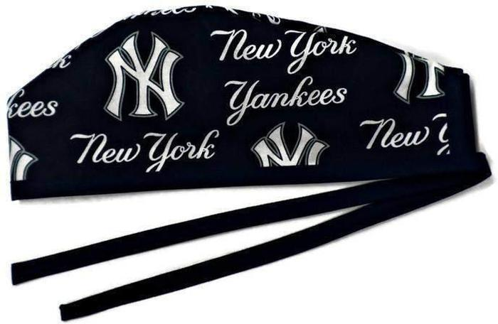 Men s Unlined Surgical Scrub Hat Cap Handmade with New York Yankees Navy  fabric 33f1d5364c0
