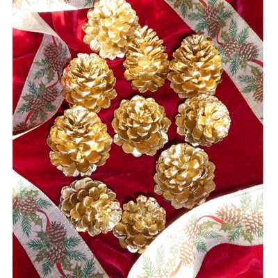 Golden Pine Cones are a beautiful addition to any Christmas design.