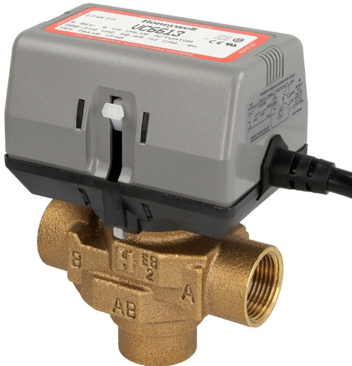 """Honeywell VC6613MH6000 3-way valve 3/4"""" IT with limit switch"""