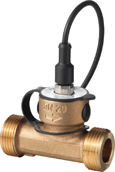 Siemens QVE3000.015 flow sensor made from red brass