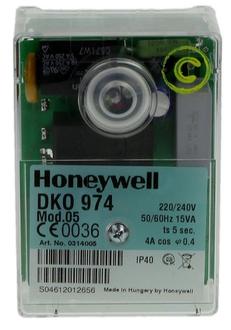 Honeywell DKO 974-N mod. 05, Oil burner control unit, 0414005U