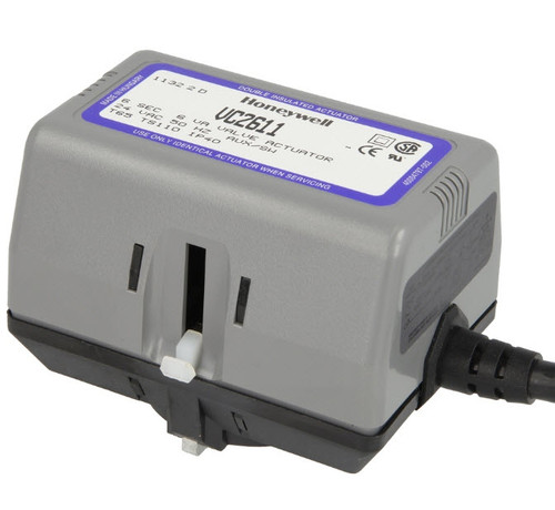 Honeywell VC 2611ZZ00 actuator 24V/50Hz cable connection, limit switch