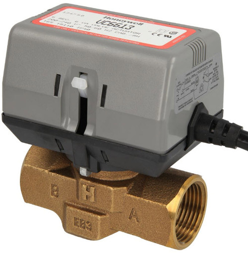 """Honeywell VC6613AP1000 2-way VC valve 1"""" IT with limit switch"""
