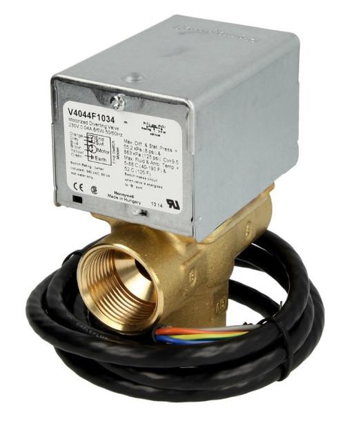 """Honeywell V8044C1065B, Three-way zone valve 1"""" IT 24 V/50 Hz"""
