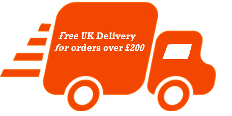 Free UK delivery for orders over £200