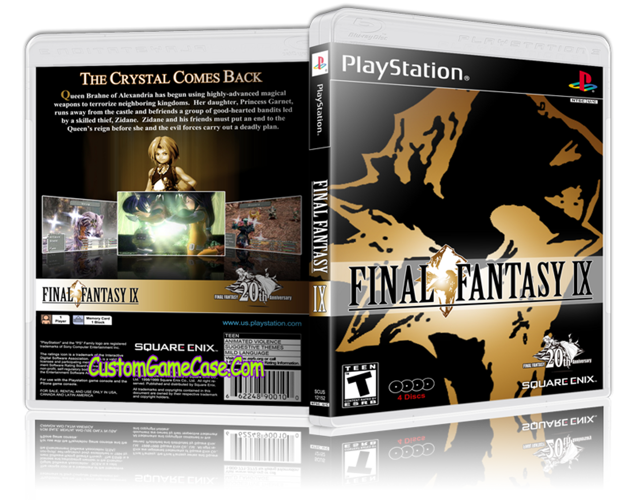Final Fantasy IX Sony PlayStation 1 PSX PS1 - Empty Custom Case