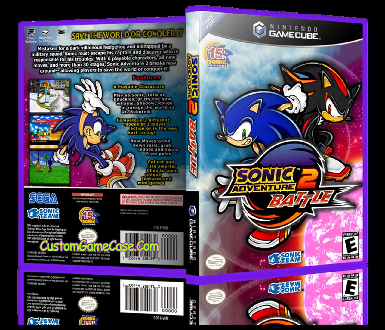 Sonic Adventure Battle 2 Nintendo Gamecube Gc Empty Custom Replacement Game Box Case Custom Game Case