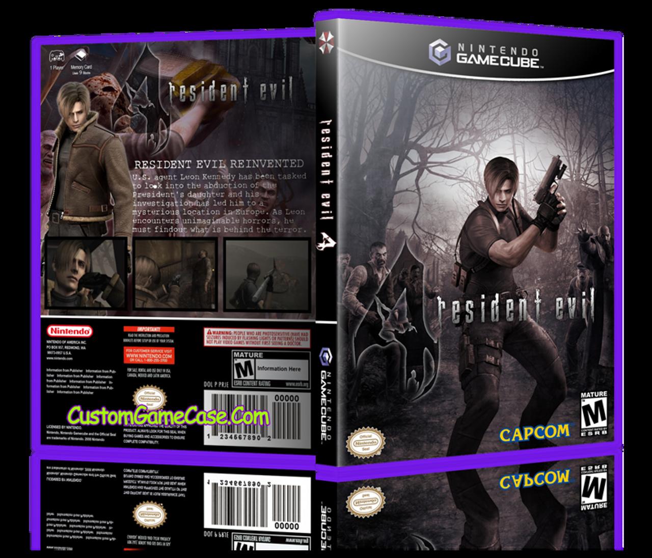 Resident Evil 4 Nintendo Gamecube Gc Empty Custom Replacement