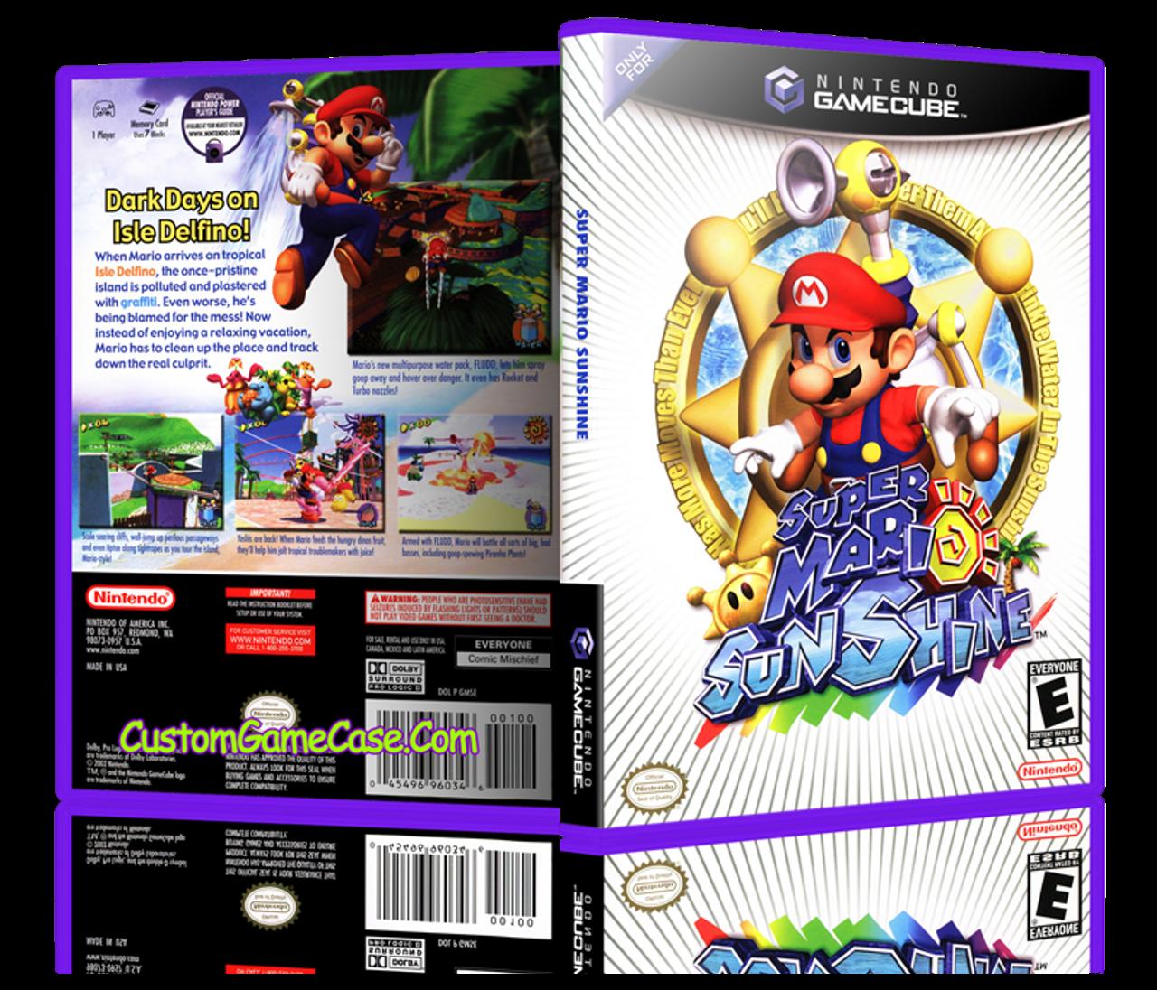 Super Mario Sunshine Nintendo Gamecube Gc Empty Custom
