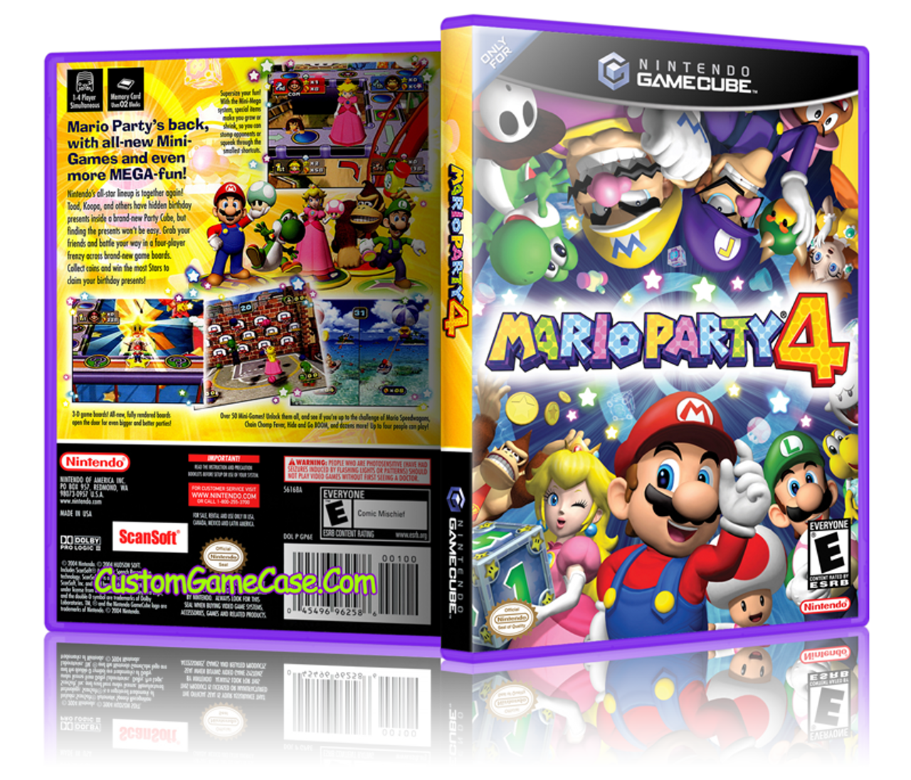 Mario Party 4 - Nintendo GameCube GC - Empty Custom Replacement Game Box  Case