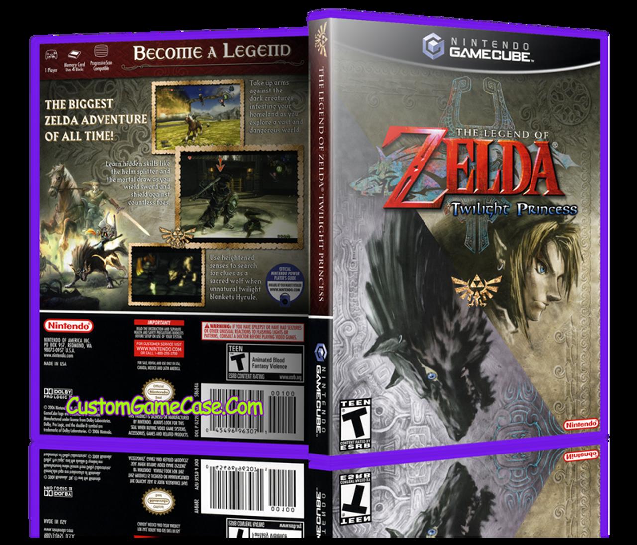 The Legend of Zelda Twilight Princess - Nintendo GameCube GC - Empty Custom  Replacement Game Box Case