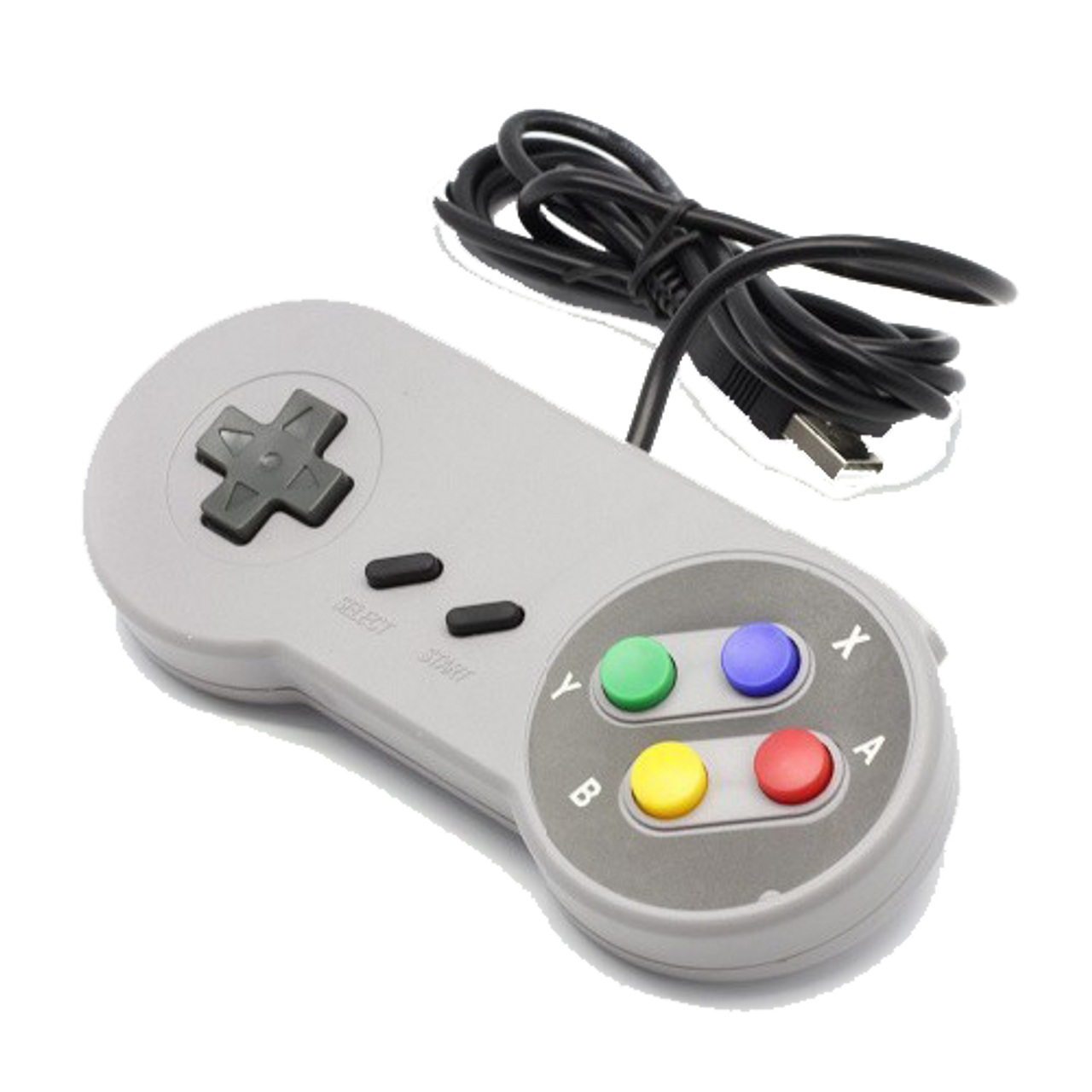 Retro Pi Recalbox Super Nintendo SNES USB Wired Classic Controller GamePad  PC Color Buttons