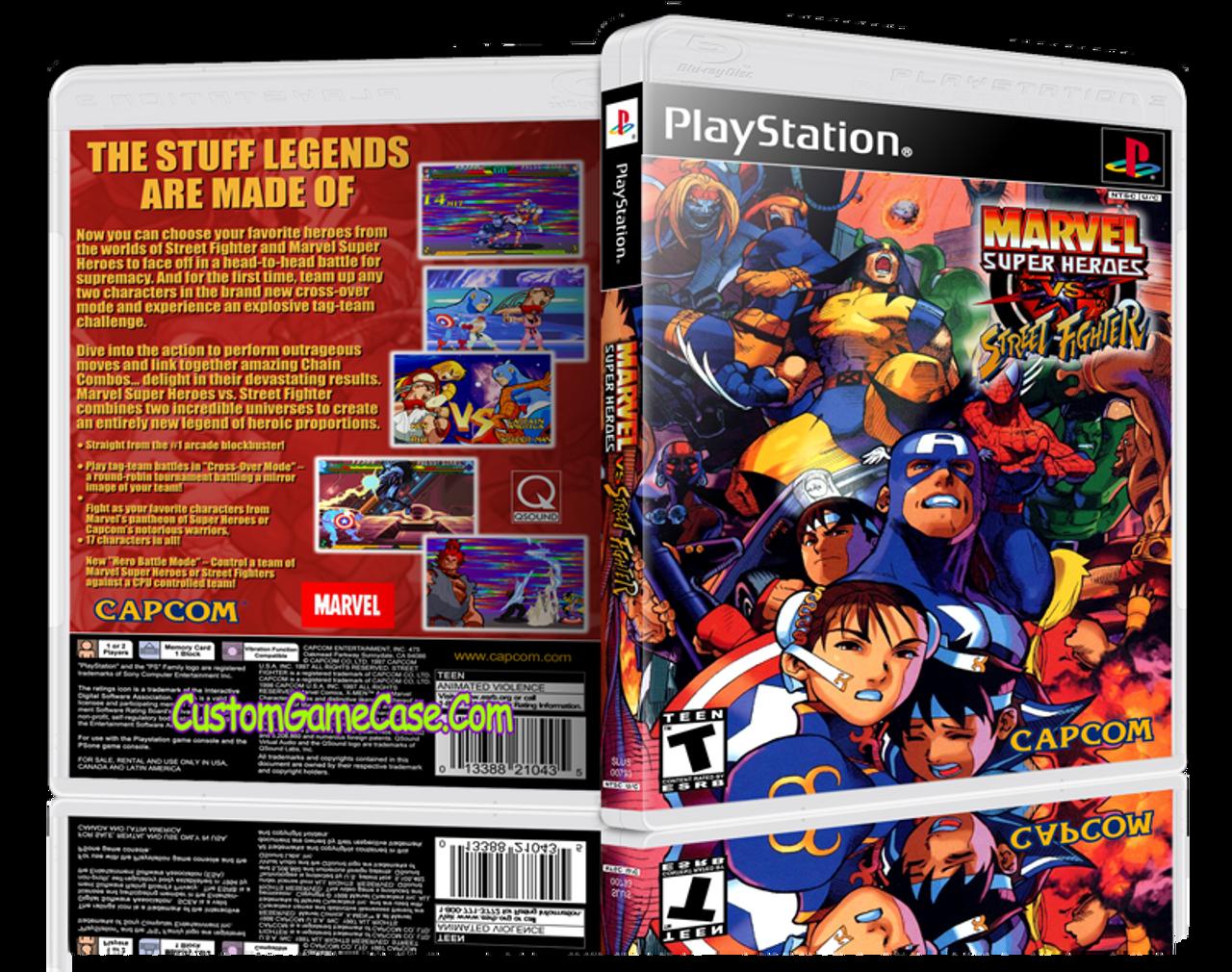 Marvel VS Street Fighter - Sony PlayStation 1 PSX PS1 - Empty Custom Case