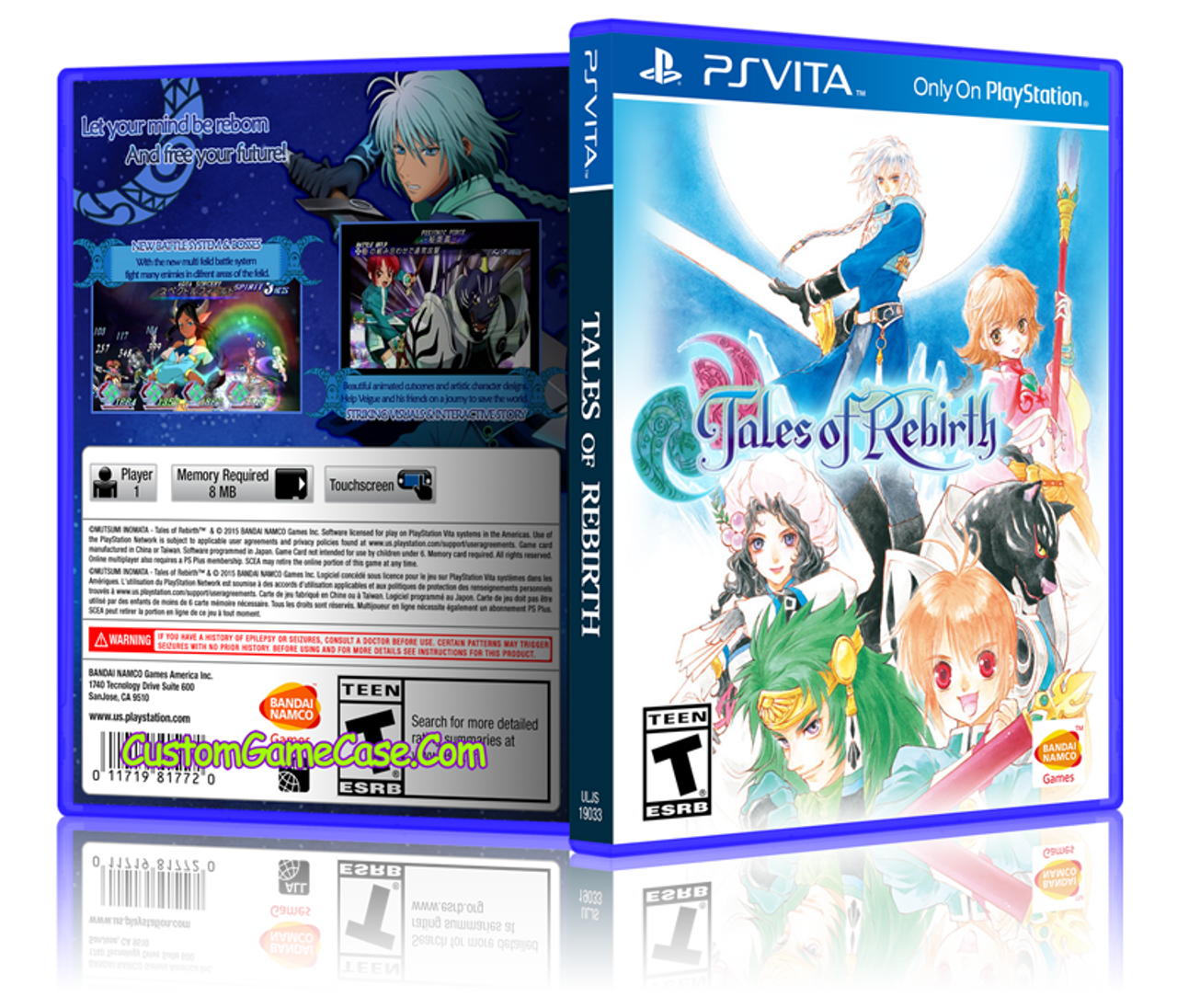 Tales of Rebirth - Sony PlayStation PS Vita - Empty Custom Replacement Case