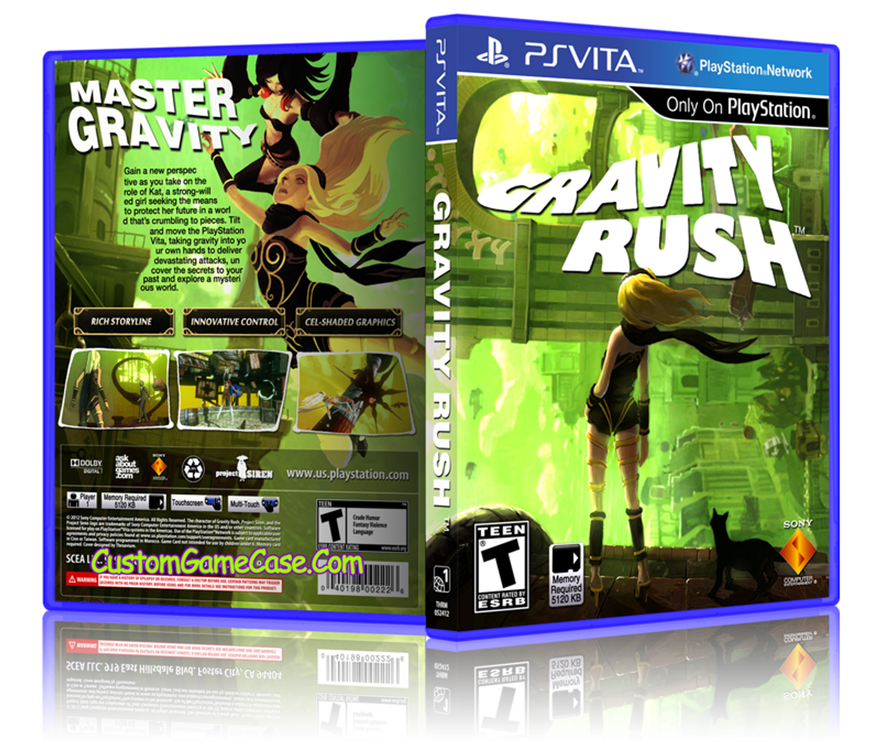 Gravity Rush - Sony PlayStation PS Vita - Empty Custom Replacement Case