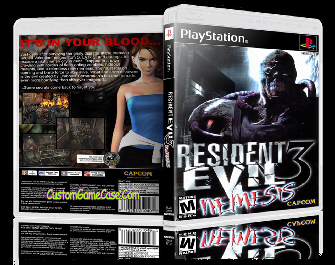 Resident Evil 3 Nemesis Sony Playstation 1 Psx Ps1 Empty