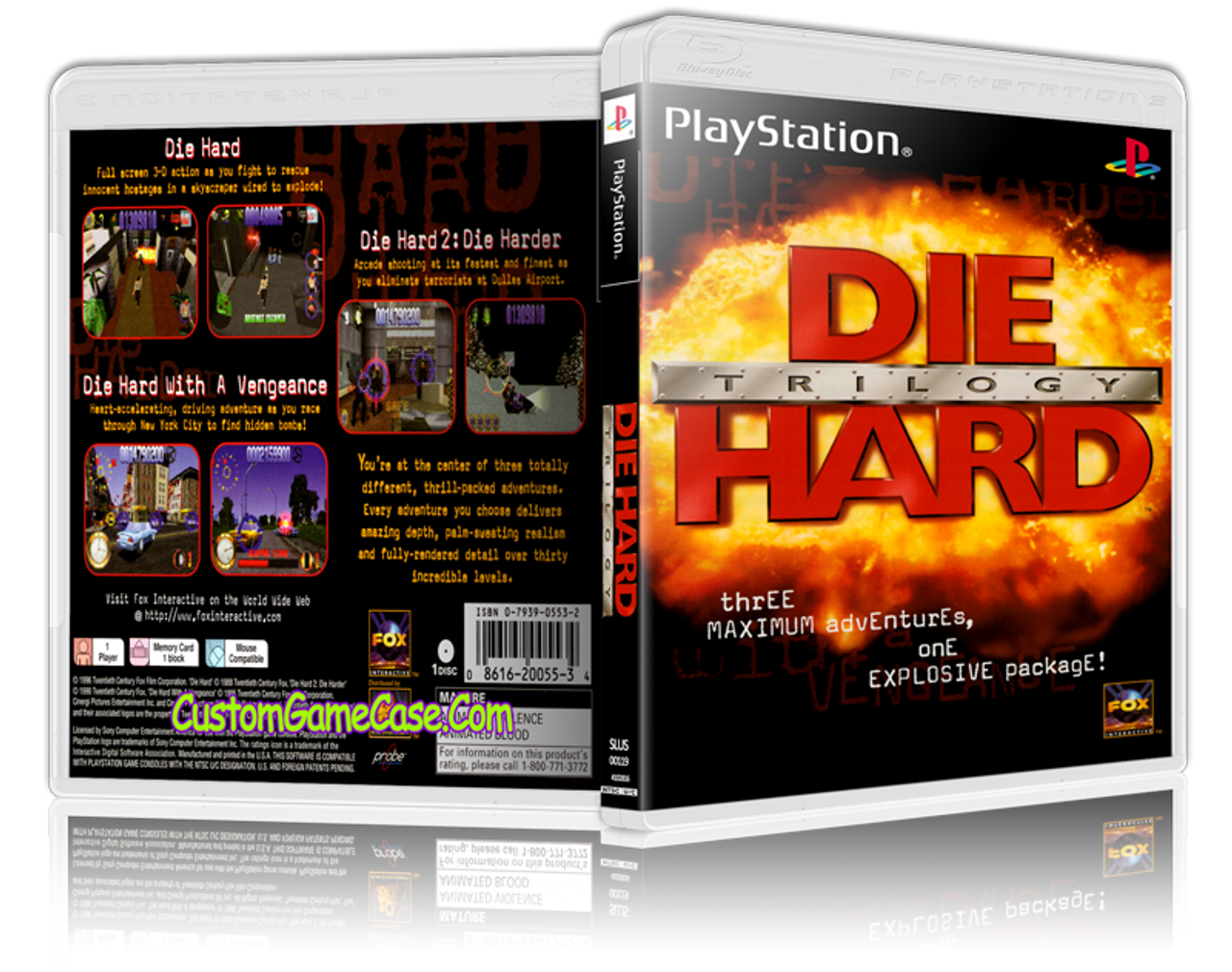 Die Hard Trilogy - Sony PlayStation 1 PSX PS1 - Empty Custom Case