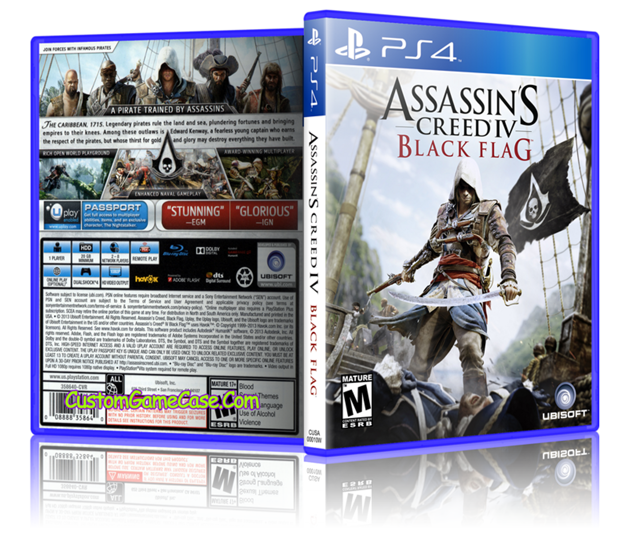 Assassins Creed Iv Black Flag Sony Playstation 4 Ps4 Empty