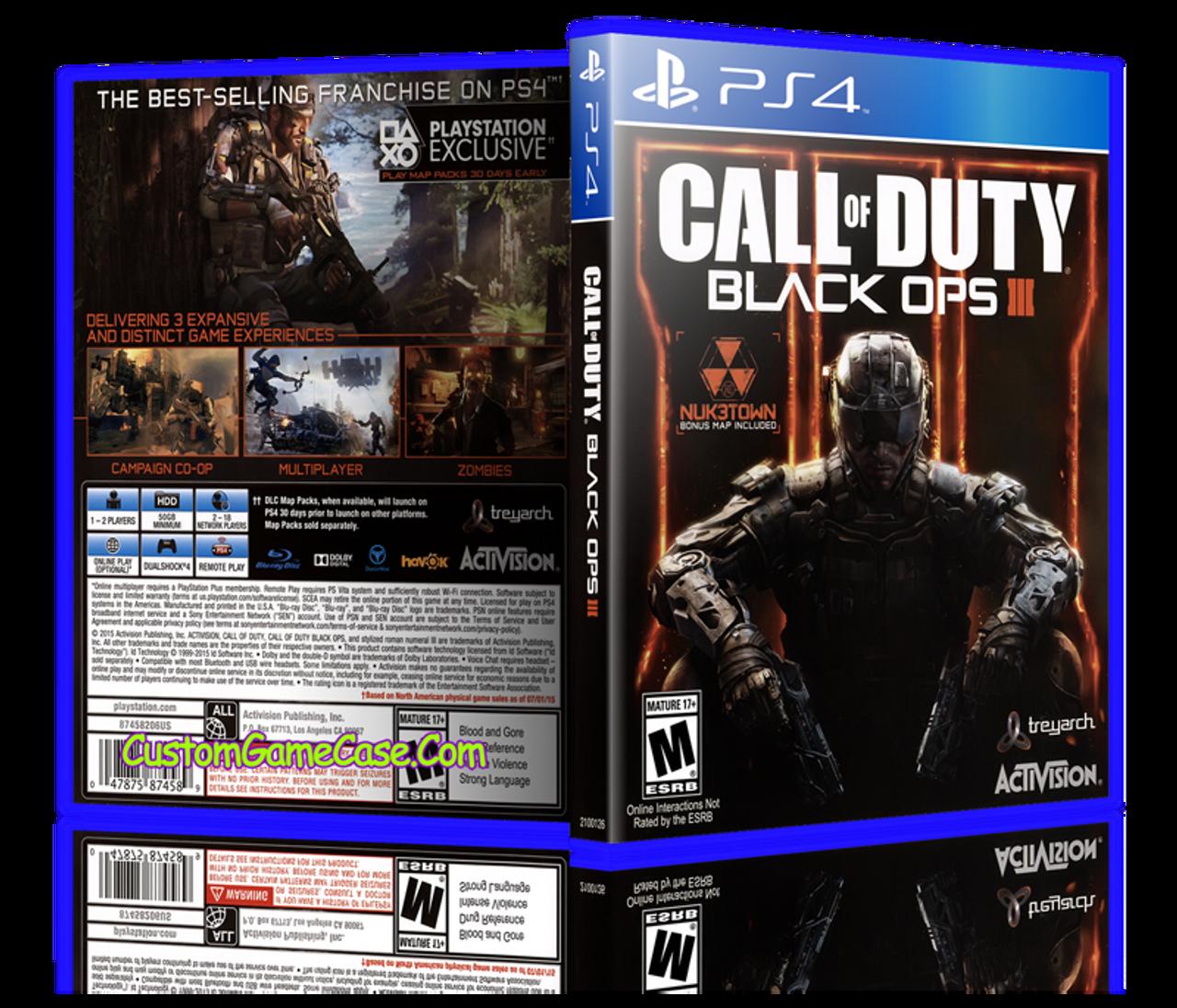Call Of Duty Black Ops Iii Sony Playstation 4 Ps4 Empty Custom