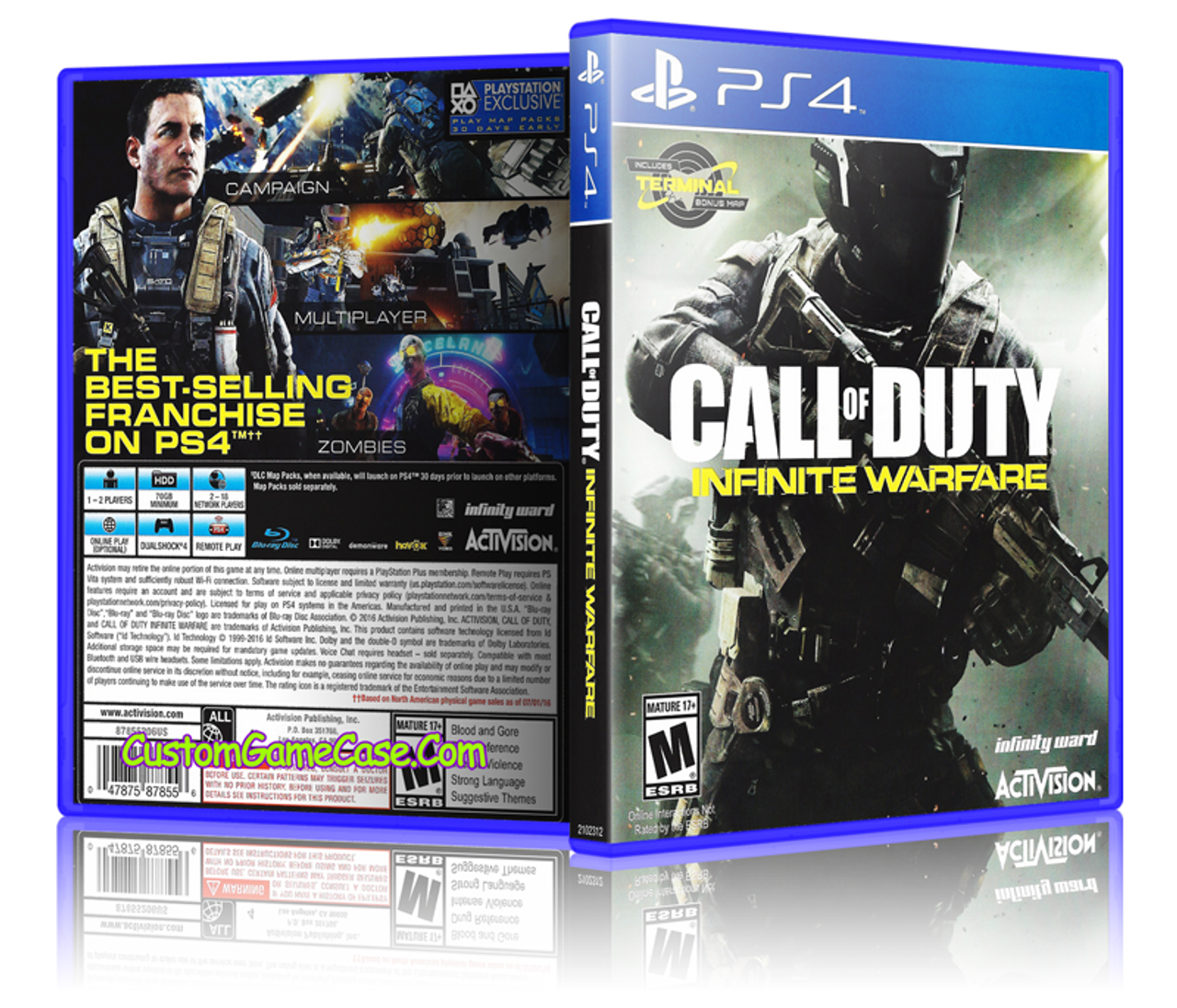 Call Of Duty Infinite Warfare Sony Playstation 4 Ps4 Empty Custom Replacement Case Custom Game Case