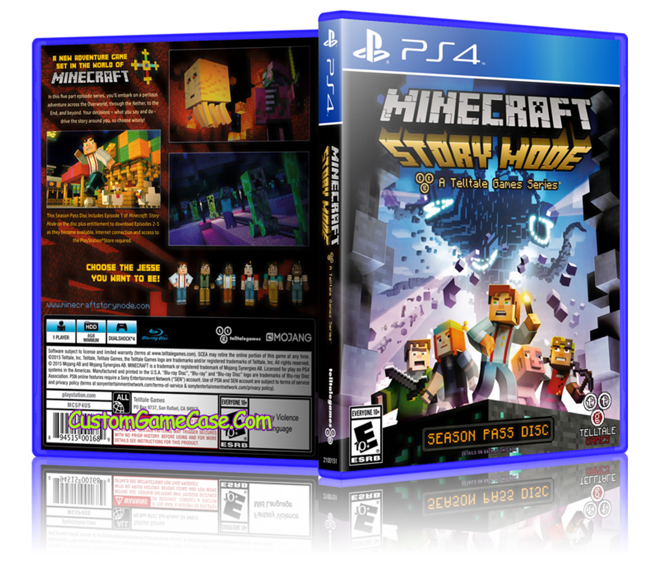 Minecraft Story Mode - Sony PlayStation 4 PS4 - Empty Custom Replacement  Case