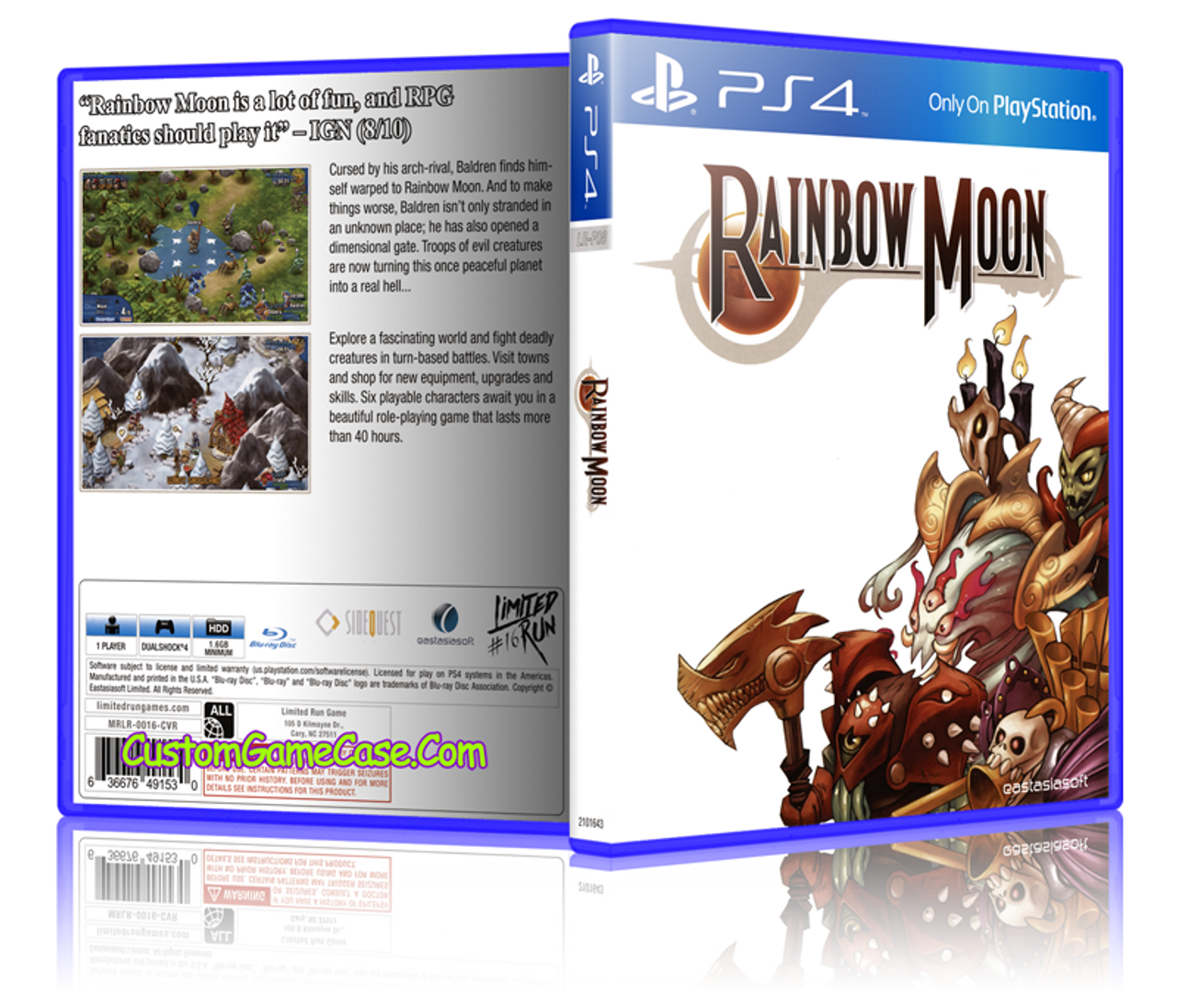 Rainbow Moon - Sony PlayStation 4 PS4 - Empty Custom Replacement Case