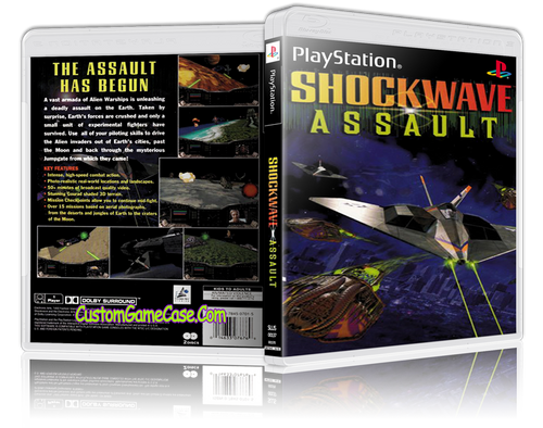 Shockwave Assault - Sony PlayStation 1 PSX PS1 - Empty Custom Case
