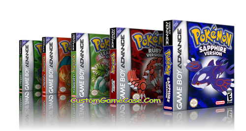 Pokemon Collection Leaf Ruby Sapphire Emerald FireRed - Gameboy Advance GBA - Empty Custom Replacement Cases