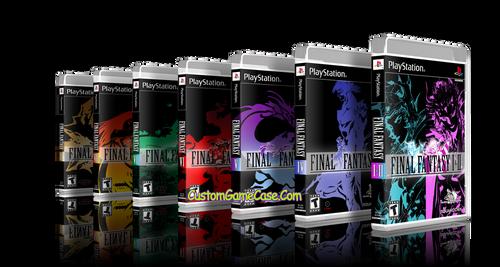 Final Fantasy Collection I II IV V VI VII VIII IX  Sony PlayStation 1 PSX PS1 - Empty Custom Cases